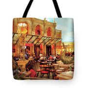 City - Vegas - Cesar's - Lunch In Italy Tote Bag