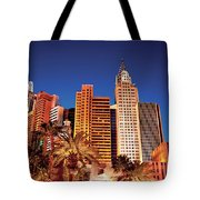 City - Vegas - Ny - The New York Hotel Tote Bag
