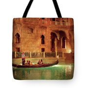City - Vegas - Venetian - The Gondola's Of Venice Tote Bag