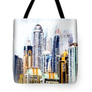 City Abstract Tote Bag by Chris Armytage