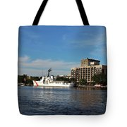 City Across The River Tote Bag