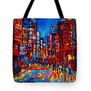 City After The Rain Tote Bag