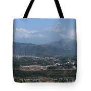 City And Annapurna  View  Tote Bag by Atul Daimari