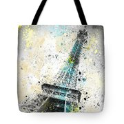 City-art Paris Eiffel Tower Iv Tote Bag