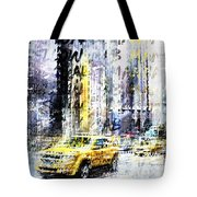 City-art Times Square Streetscene Tote Bag
