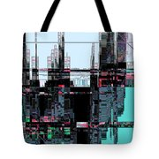 City As Computer Chips  Tote Bag