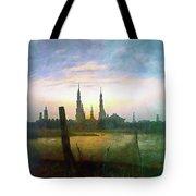 City At Moonrise Tote Bag