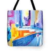 City At Waters Edge Tote Bag