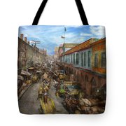 City - Baltimore Md - Traffic On Light Street - 1906 Tote Bag
