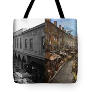 City - Baltimore Md - Traffic On Light Street - 1906 - Side By Side Tote Bag