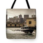 City Bay Police Boat - Color  Tote Bag