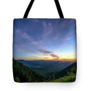 City Below The Mountains Tote Bag