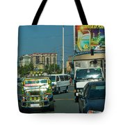 City Driving Tote Bag