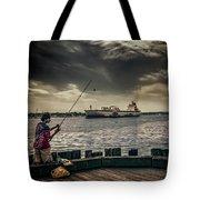 City Fishing Tote Bag