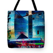 City Gas Station Tote Bag
