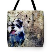 City Girl Goes To Paris Tote Bag by Delight Worthyn