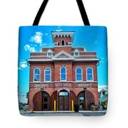 City Hall And Fire Department Tote Bag