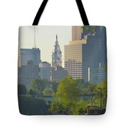 City Hall From The Schuylkill River Tote Bag