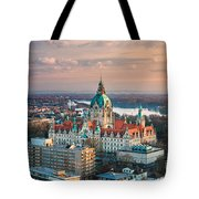 City Hall Of Hannover, Germany Tote Bag