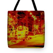 City In Red Tote Bag