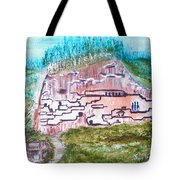 City In The Wall Tote Bag