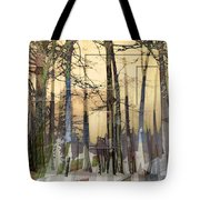 City In Trees Tote Bag