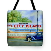 City Island Billboard Tote Bag by Marguerite Chadwick-Juner
