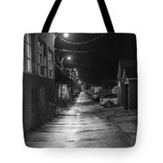 City Lane At Night Tote Bag