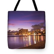 City Lights Reflections Tote Bag