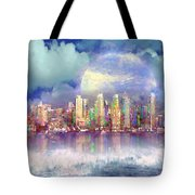City Moon Tote Bag