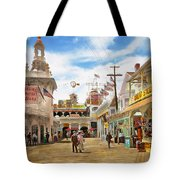City - Ny - The Great Steeplechase 1903 Tote Bag