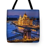 City Of Budapest At Twilight Tote Bag
