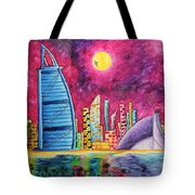 City Of Dubai Pop Art Original Luxe Life Painting By Madart Tote Bag