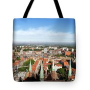 City Of Gdansk Aerial View Tote Bag