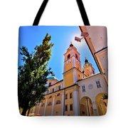 City Of Ljubljana Church And Square View Tote Bag