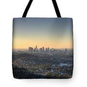 City Of Los Angeles At Dawn Tote Bag