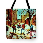 City Of Montreal Hockey Our National Pastime Tote Bag