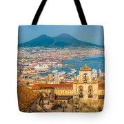City Of Naples With Mt. Vesuvius Tote Bag