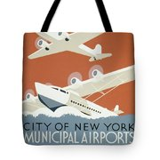 City Of New York Municipal Airports Tote Bag