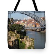 City Of Porto In Portugal Picturesque Scenery Tote Bag