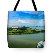 City Of Singapore And Blue Sky Tote Bag