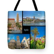 City Of Split Nature And Architecture Collage Tote Bag