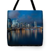 City Of Vancouver British Columbia Canada Tote Bag