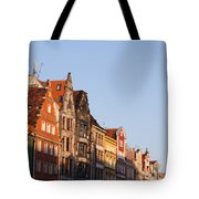 City Of Wroclaw Old Town Skyline At Sunset Tote Bag