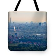 City Of Zagreb Panoramic Aerial View Tote Bag