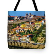 City On A Hillside Tote Bag