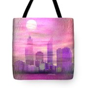 City On Night View Tote Bag