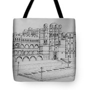 City Palace Of Udaipur  Tote Bag