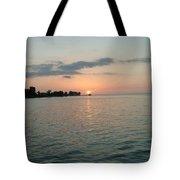 City Pier Holmes Beach Bradenton Florida Tote Bag