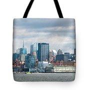 City - Skyline - Hoboken Nj - The Ever Changing Skyline Tote Bag